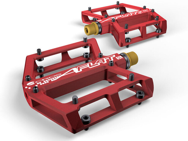 ACROS A-Flat SL Pedales titanium, red